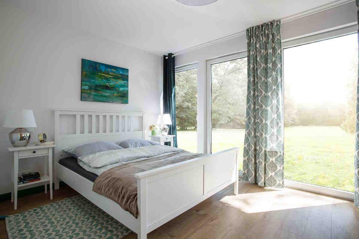 sypialnia - widok na łóżko