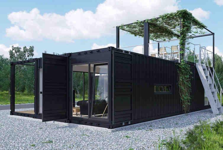 budynek modułowe od MagaHomes - wizualizacja